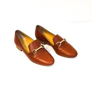 Talbots RUST Loafers with GOLD Hardware
